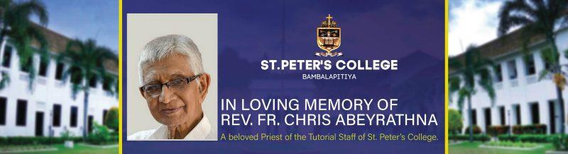 In Loving Memory of Rev. Fr. Chris Abeyrathna