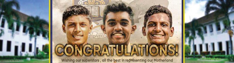 3 Peterites to represent Sri Lanka in Cricket